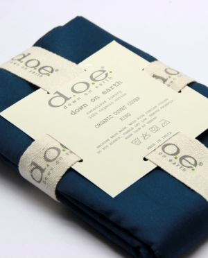 d.o.e.® Organic Cotton Flat and Fitted Sheets,Navy Blue
