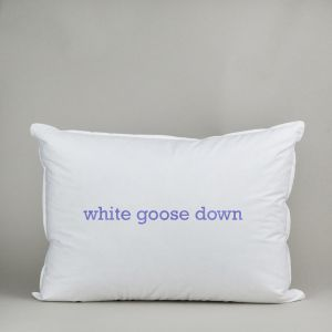 All White Goose Down Pillow