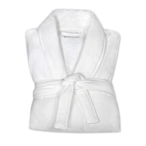 Mount Baker Shawl Collar Waffle Robe with Terry Lining