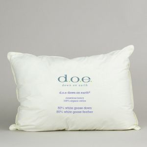 d.o.e.® 50%/50% Goose Down and Feather Pillow with Organic Cotton Ticking