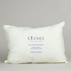 d.o.e.® Rhapsody Wrap Down and Feather Pillow with Organic Cotton Ticking