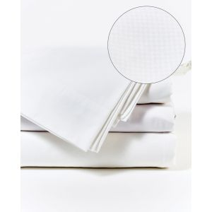 Microcheck Sheet Set with Duvet Cover