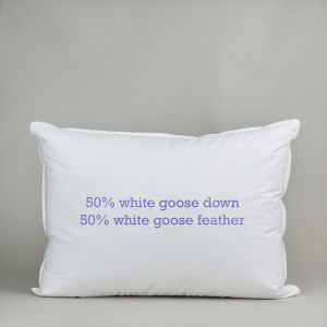50%/50% White Goose Down and Feather Pillow