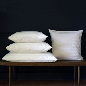 All White Goose Down Pillow Preassembled with Pillow  Protector