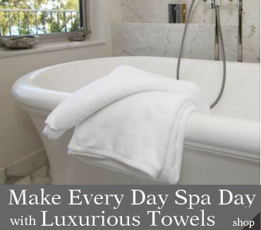 Luxury hotel and spa towels for the home